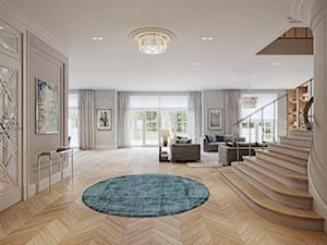 FAMILY HOME - Duży szary salon, styl klasyczny - zdjęcie od Katarzyna Kraszewska Architektura Wnętrz