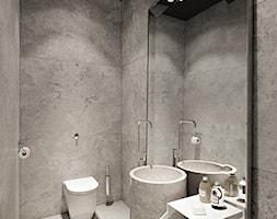 Rezydencja pod Poznaniem - Mała szara łazienka w bloku w domu jednorodzinnym bez okna, styl nowocze ... - zdjęcie od Katarzyna Kraszewska Architektura Wnętrz - Homebook