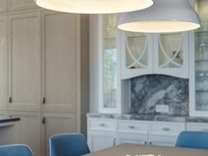Sopot Apartament z widokiem, - Średnia otwarta jadalnia w kuchni, styl klasyczny - zdjęcie od Katarzyna Kraszewska Architektura Wnętrz