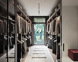 Rezydencja pod Poznaniem - Duża garderoba z oknem, styl nowoczesny - zdjęcie od Katarzyna Kraszewska Architektura Wnętrz - Homebook
