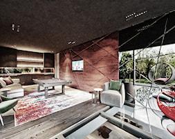 Rezydencja pod Poznaniem - Średni czarny salon, styl nowoczesny - zdjęcie od Katarzyna Kraszewska Architektura Wnętrz - Homebook