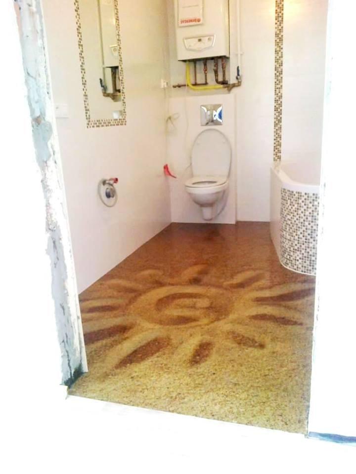 łazienka Styl Nowoczesny Zdjęcie Od Podłogi 3d W