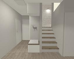 Dom na Mazurach - Średni szary hol / przedpokój, styl skandynawski - zdjęcie od Monika Deptuła Projektant Wnętrz