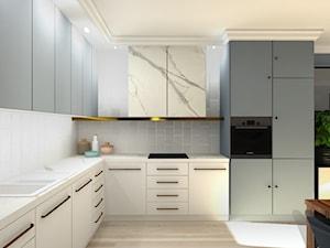 Mieszkanie w stylu Mid-century modern - Średnia otwarta kuchnia w kształcie litery l, styl klasyczny - zdjęcie od Base Architekci