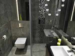 Dom Jednorodzinny Wisła - realizacja - Mała łazienka w bloku w domu jednorodzinnym bez okna, styl industrialny - zdjęcie od MARTA PAWLAK ARCHITEKTURA WNĘTRZ