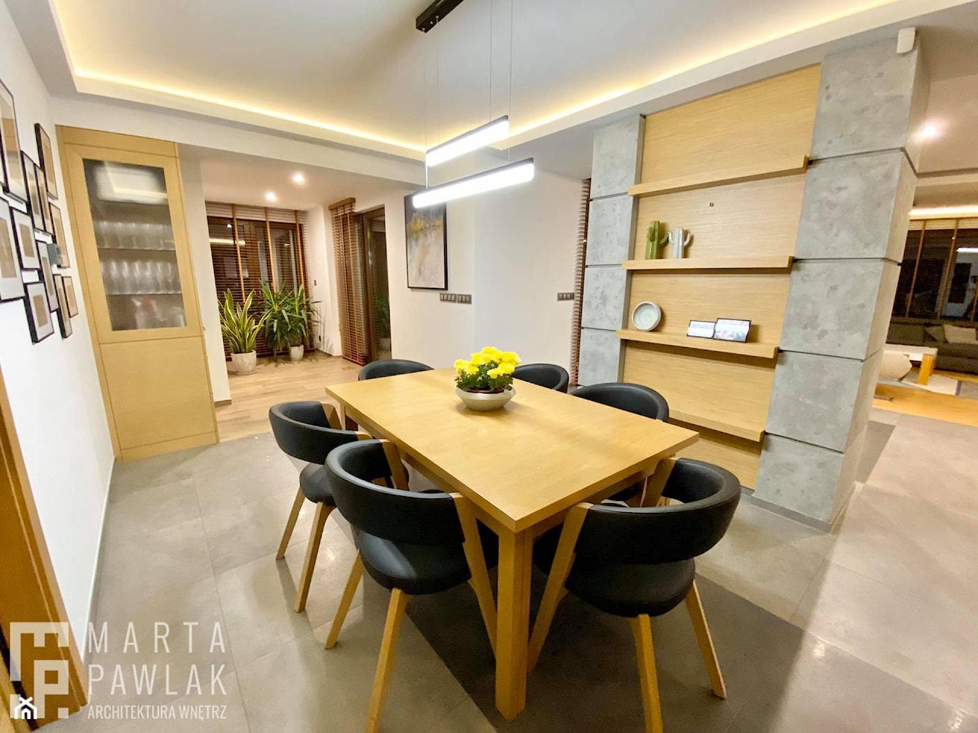 Dom Jednorodzinny w Pogórzu - Realizacja - Jadalnia, styl nowoczesny - zdjęcie od MARTA PAWLAK ARCHITEKTURA WNĘTRZ - Homebook