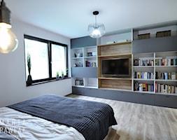 Dom Jednorodzinny Wisła - realizacja - Duża biała sypialnia małżeńska, styl industrialny - zdjęcie od MARTA PAWLAK ARCHITEKTURA WNĘTRZ - Homebook