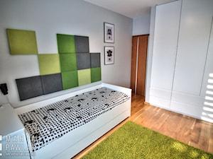 Pokoje młodzieżowe - realizacja - Mały szary pokój dziecka dla chłopca dla dziewczynki dla nastolatka, styl nowoczesny - zdjęcie od MARTA PAWLAK ARCHITEKTURA WNĘTRZ