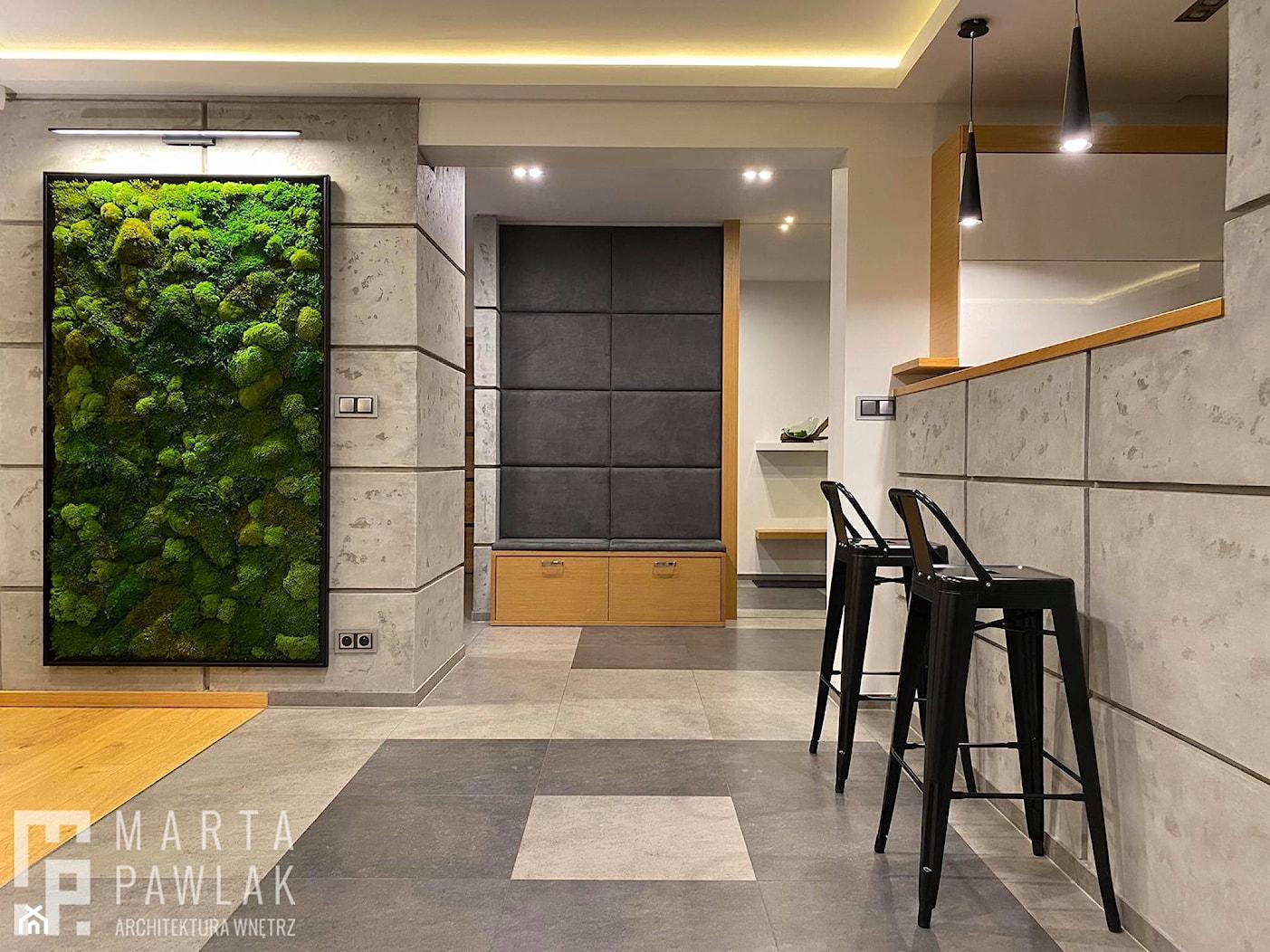 Dom Jednorodzinny w Pogórzu - Realizacja - Hol / przedpokój, styl nowoczesny - zdjęcie od MARTA PAWLAK ARCHITEKTURA WNĘTRZ - Homebook