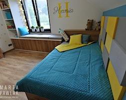 Dom Jednorodzinny Wisła - realizacja - Mały szary niebieski pokój dziecka dla chłopca dla dziewczynki dla nastolatka, styl nowoczesny - zdjęcie od MARTA PAWLAK ARCHITEKTURA WNĘTRZ
