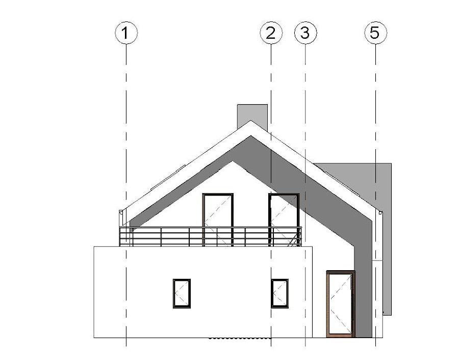 Dom jednorodzinny C - Nowoczesne domy, styl nowoczesny - zdjęcie od Siedemjeden Architekci Pracownia Projektowa