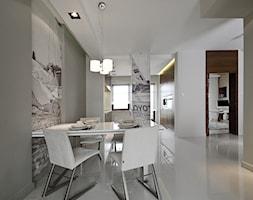 Dom prywatny w Redłowie 2010 - Średnia otwarta szara jadalnia w salonie, styl nowoczesny - zdjęcie od formativ. kasia i michał dudko