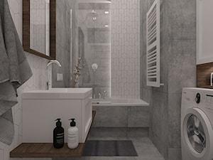 Polna-Północ - Mała łazienka w bloku w domu jednorodzinnym bez okna, styl skandynawski - zdjęcie od MOTIF DESIGN