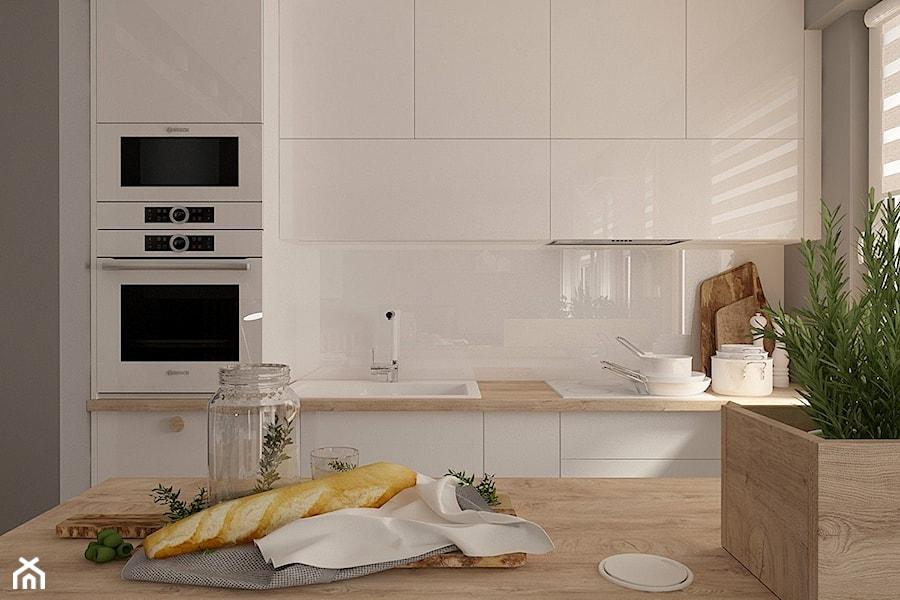 Salon z otwartą kuchnią - zdjęcie od MOTIF DESIGN