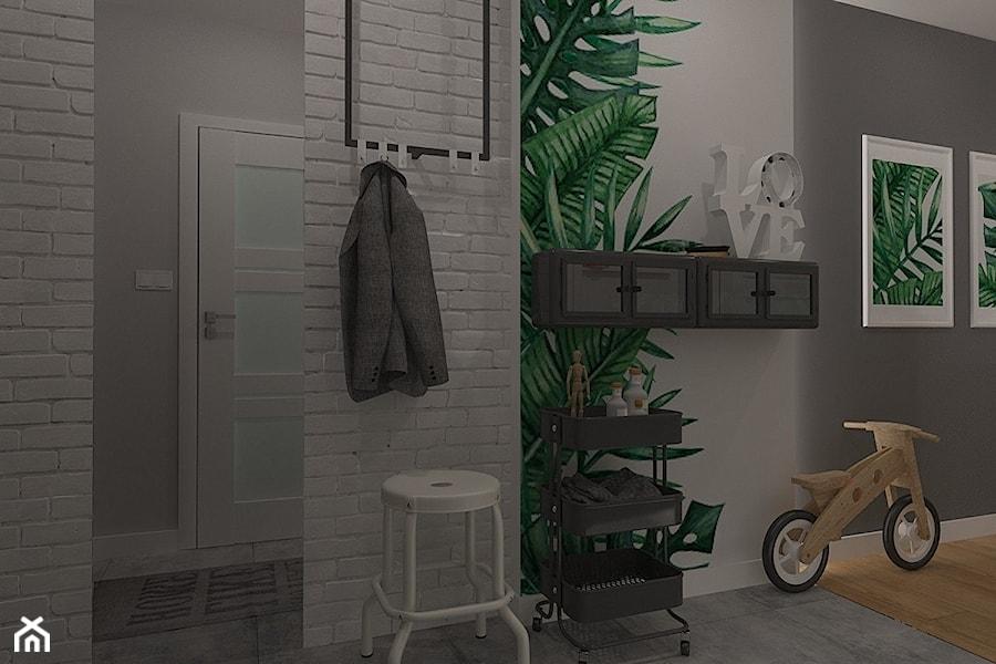 Polna-Północ - Mały biały szary hol / przedpokój, styl skandynawski - zdjęcie od MOTIF DESIGN