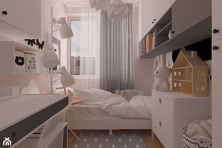 Polna-Północ - Mały szary pokój dziecka dla chłopca dla dziewczynki dla ucznia dla malucha dla nastolatka, styl skandynawski - zdjęcie od MOTIF DESIGN