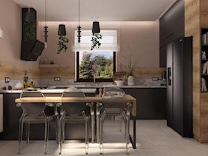 Projekt kuchni w dwóch wersjach - bieli i czerni