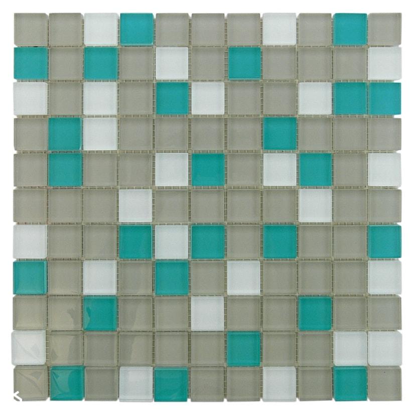Mozaika szaro-turkusowa - zdjęcie od Topmozaiki - homebook