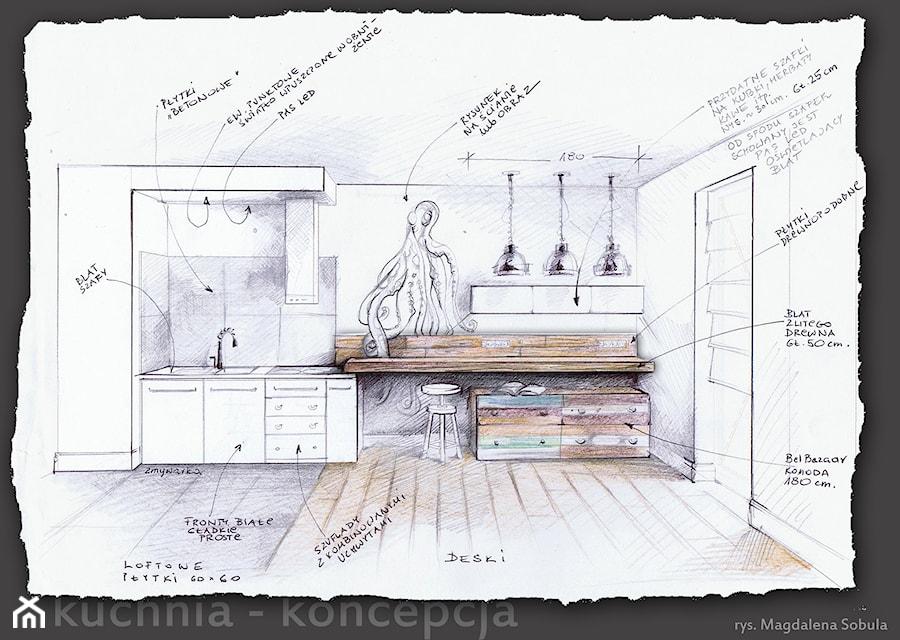Rysunek Koncepcyjny Do Projektu Kuchni Zdjęcie Od Magdalena Sobula