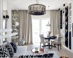 MIESZKANIE GDAŃSK-PRZYMORZE - Średni salon z jadalnią, styl klasyczny - zdjęcie od D-ZONE Beata Bielawska