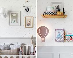 MIESZKANIE GDAŃSK WRZESZCZ - Mały biały szary pokój dziecka dla chłopca dla dziewczynki dla niemowlaka, styl skandynawski - zdjęcie od D-ZONE