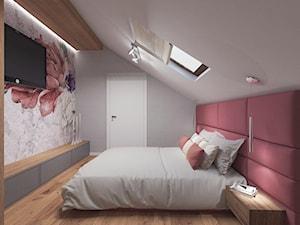 Dom pod Kaliszem   Kotowiecko   140 m2 - Średnia szara sypialnia małżeńska na poddaszu, styl nowoczesny - zdjęcie od VERY Interior Design - Projektowanie Wnętrz