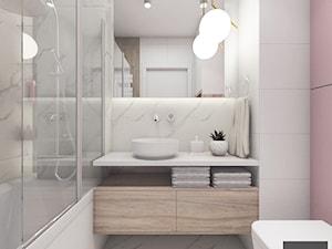 Pudrowa łazienka - zdjęcie od VERY Interior Design - Projektowanie Wnętrz