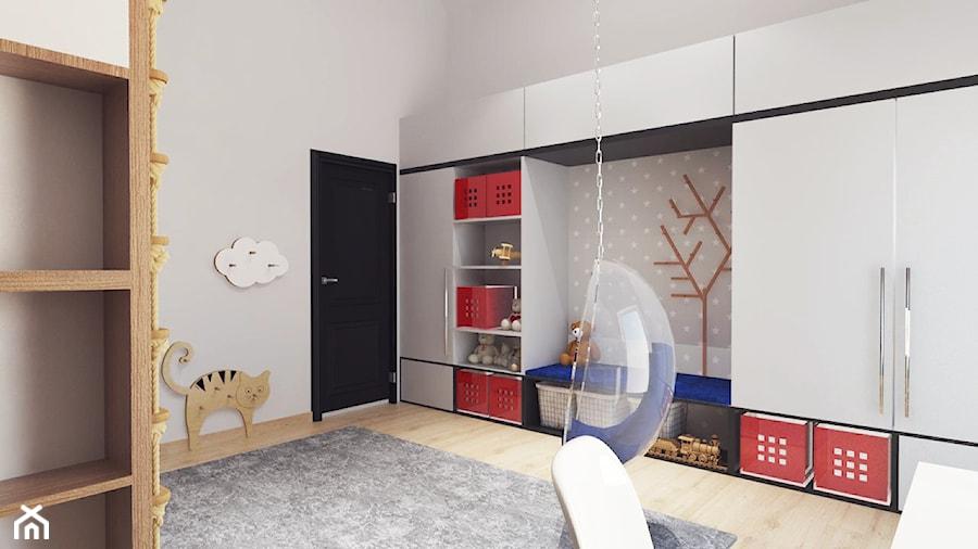 Pokój Leona   Os. Celtyckie   Kalisz - Średni szary pokój dziecka dla chłopca dla dziewczynki dla ucznia dla malucha, styl nowoczesny - zdjęcie od VERY Interior Design - Projektowanie Wnętrz