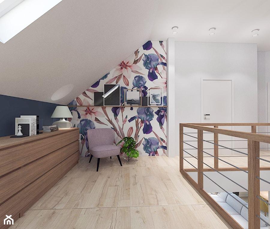 Dom pod Kaliszem   Kotowiecko   140 m2 - Duży biały czarny hol / przedpokój, styl nowoczesny - zdjęcie od VERY Interior Design - Projektowanie Wnętrz