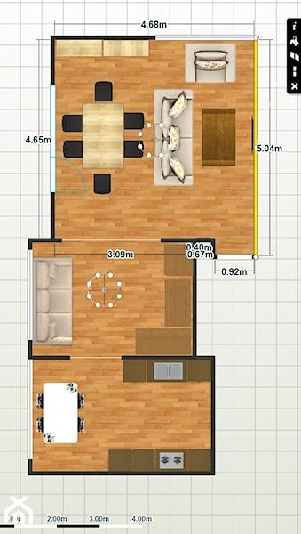 Aranżacja dziennej części piętra  kuchnia+pokój+salon   -> Kuchnia Gazowa Polmetal Czesci