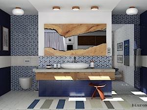 Łazienka przy sypialni - zdjęcie od BIUROMETRY Szczecin architektura i wnętrza