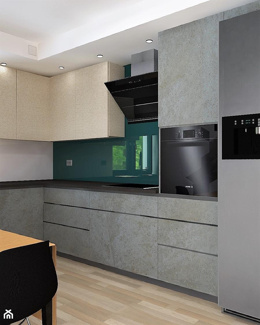 Kuchnia01 średnia Otwarta Szara Zielona Kuchnia W