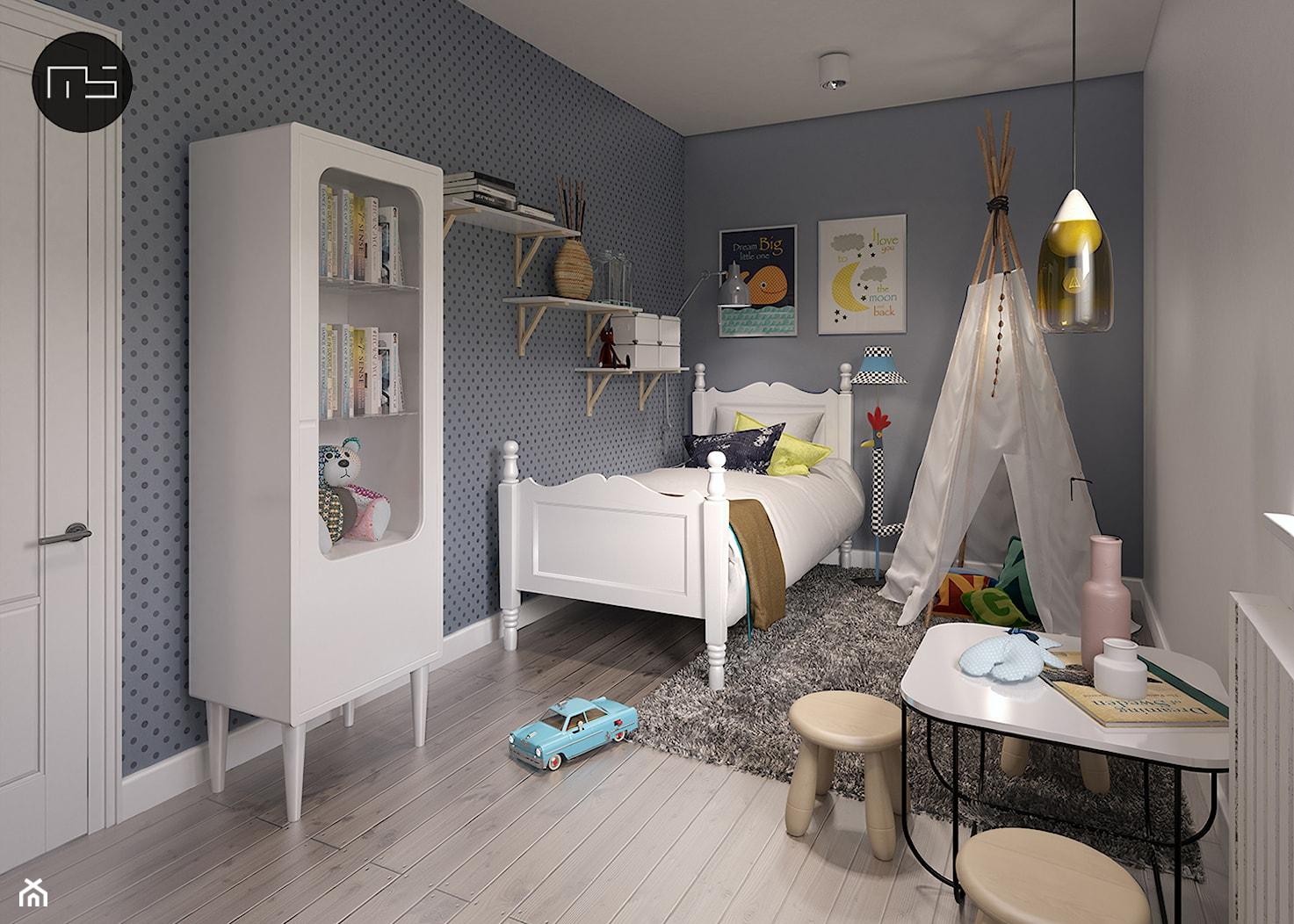 Mieszkanie M3 - Średni szary beżowy pokój dziecka dla chłopca dla dziewczynki dla malucha, styl skandynawski - zdjęcie od MS Group - Homebook