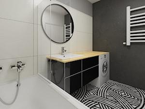 Łazienka biało-czarna - zdjęcie od Drob Design