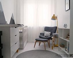 Pokój dziecięcy, Rybnik - Mały szary różowy pokój dziecka dla chłopca dla dziewczynki dla niemowlaka, styl skandynawski - zdjęcie od MOJO pracownia projektowa