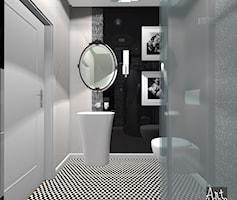 """łazienka gościnna - zdjęcie od Projektowanie Wnętrz """"ART LINE"""""""