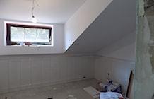 """łazienka na piętrze w trakcie remontu - zdjęcie od Projektowanie Wnętrz """"ART LINE"""""""