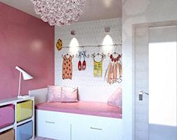 Pokoje dziecięce - młodzieżowe - Mały szary czerwony pokój dziecka dla dziewczynki dla ucznia dla malucha dla nastolatka, styl glamour - zdjęcie od Arthome