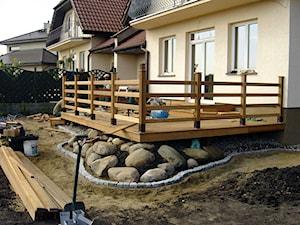 Taras drewniany. Realizacja w Szczecinie.
