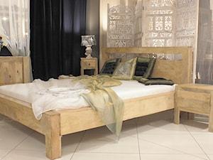 Kolekcja Oslo - Mała szara sypialnia małżeńska, styl skandynawski - zdjęcie od CudneMeble