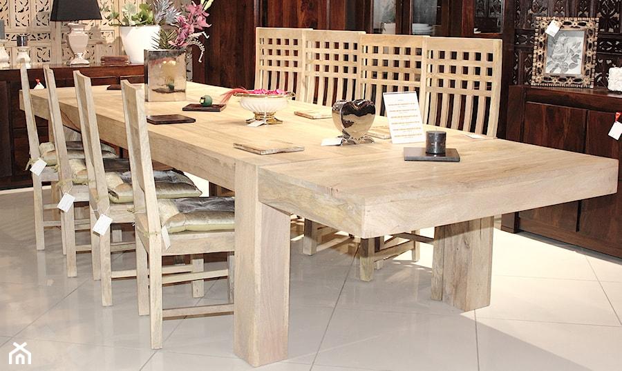 Stół z litego drewna mangowca indyjskiego - zdjęcie od CudneMeble