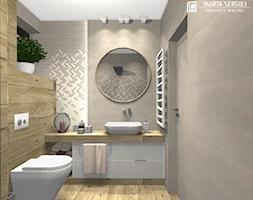 dom w Namysłowie 3 - Średnia łazienka w bloku w domu jednorodzinnym bez okna, styl nowoczesny - zdjęcie od msergiej-wnętrza