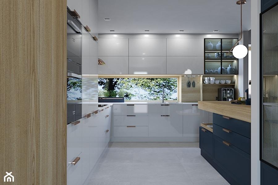 Projekt wnętrz domu jednorodzinnego wdł. projektu Parterowy 2 - Kuchnia, styl nowoczesny - zdjęcie od Architekt Wnętrz Patrycja Wojtaś