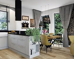 Projekt domu jednorodzinnego w Krakowie - Salon, styl nowojorski - zdjęcie od Architekt Wnętrz Patrycja Wojtaś - Homebook