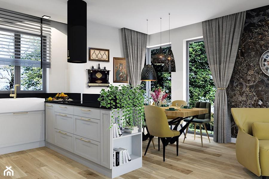 Projekt domu jednorodzinnego w Krakowie - Salon, styl nowojorski - zdjęcie od Architekt Wnętrz Patrycja Wojtaś