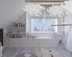 Dom w Czechowicach Dziedzicach - Mały biały pokój dziecka dla dziewczynki dla ucznia dla malucha, styl skandynawski - zdjęcie od Architekt Wnętrz Patrycja Wojtaś