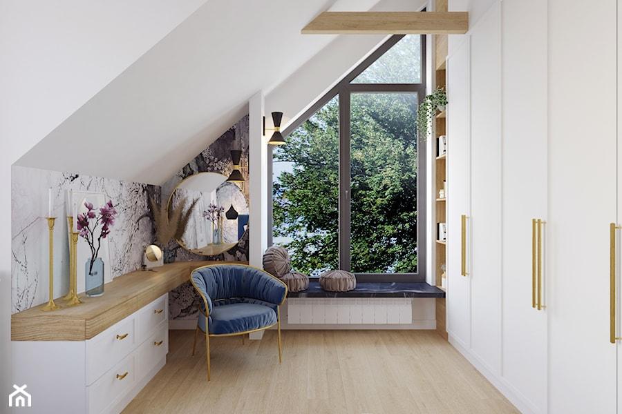 Projekt domu jednorodzinnego w Krakowie - Sypialnia, styl art deco - zdjęcie od Architekt Wnętrz Patrycja Wojtaś