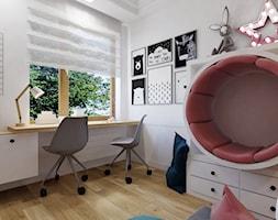 Projekt pokoju, bawialni dla córek w domu jednorodzinnym w Bielsku-Białej. - zdjęcie od Architekt Wnętrz Patrycja Wojtaś - Homebook