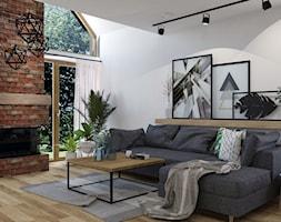 Dom w Kętrzynie - Mały biały salon, styl industrialny - zdjęcie od Architekt Wnętrz Patrycja Wojtaś