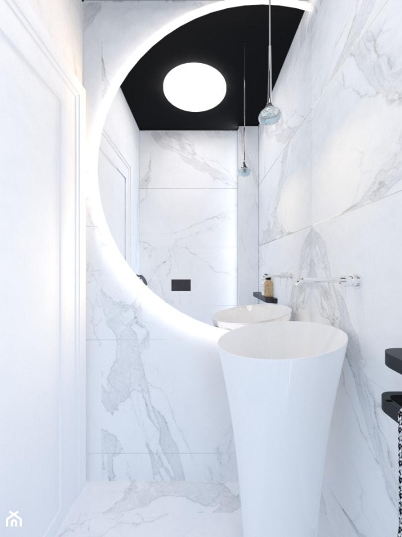 Projekt toalety w domu jednorodzinnym w Bielsku-Białej. - zdjęcie od Architekt Wnętrz Patrycja Wojtaś